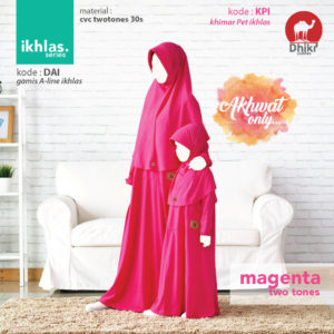 Gamis Couple Dhikr Ikhlas Magenta