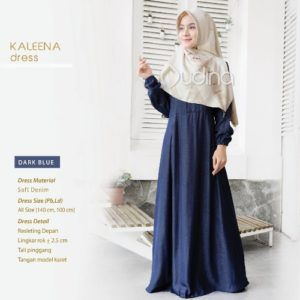 Kaleena Dress Dark Blue