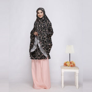 Mukena Nibras NM 01 Dusty Hitam