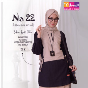 Nibras NA 22 Cream Mix Hitam