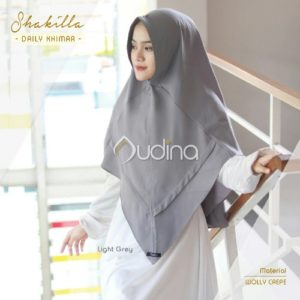 Shakilla Khimar Light Grey
