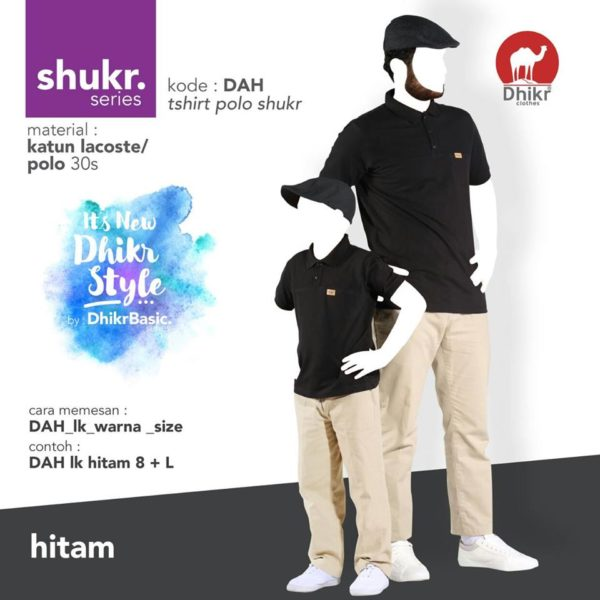 Polo Couple Dhikr Shukr Hitam