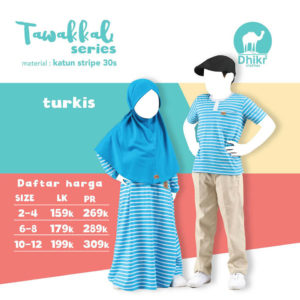Couple Dhikr Anak Tawakkal Turkis Stripe