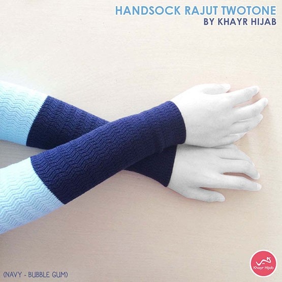 Handsock Two Tone Buble Gum Navy
